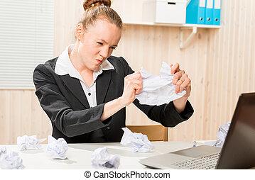 Stock image de lieu travail bureau corrects rire maquillage