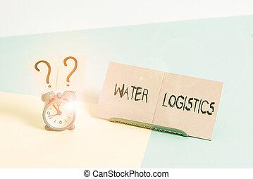 à côté de, horloge, incliné, couler, logistics., port, gestion, reveil, papier, feuille, consommateur, eau, placé, écriture, texte, mot, business, toile fond., mini, choses, taille, pastel, concept
