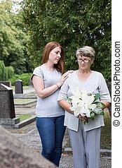 à, les, cimetière