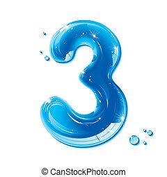 ábécé, folyékony, sorozat, -, szám, víz, 3