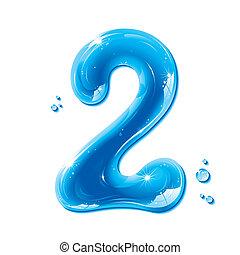 ábécé, sorozat, -, víz, folyékony, szám 2