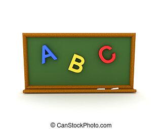 ábécé, színes, szöveg, ábra, chalkboard, 3