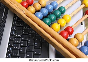 ábaco, en, un, teclado