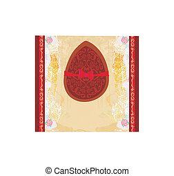 ábra, íj, vektor, chocolate ikra, piros