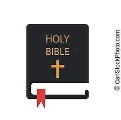 ábra, biblia, jámbor, vektor