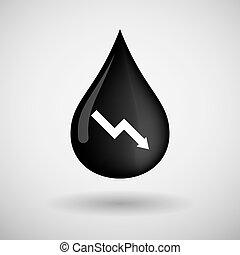 ábra, csepp, olaj, ikon