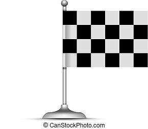 ábra, flag., fehér, tarka, vektor, versenyzés