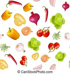 ábra, háttér, seamless, vegetáriánus, noha, növényi, káposzta, krumpli, cékla