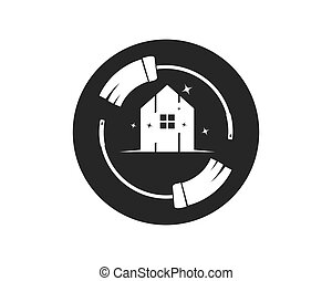 ábra, ikon, vektor, nagytakarítás, jel, szolgáltatás