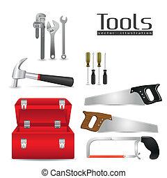 ábra, közül, eszközök