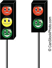 ábra, közül, közlekedési lámpa