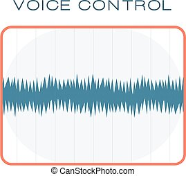 ábra, kiegyenlítő, digitális, diagram, kék, rezgő, józan lenget, játékos, vector., grafikus, audio, frekvencia