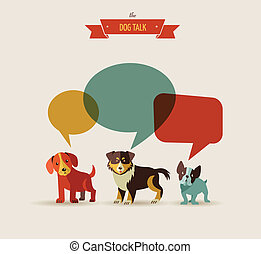 ábra, -, kutyák, beszélő, ikonok
