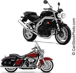 ábra, motorcycle., vektor