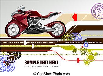 ábra, motorkerékpár