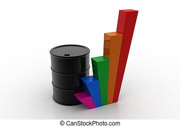 ábra, puskacső, olaj, növekedés