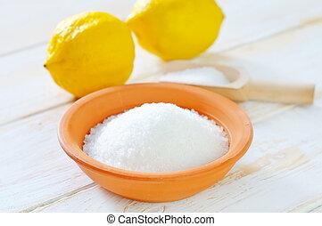 ácido, limones