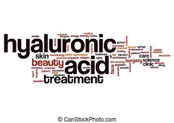 ácido, palabra, hyaluronic, nube