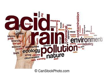 ácido, palabra, nube de lluvia