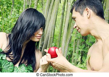 ádám, előest, és, alma