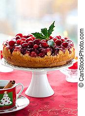 áfonya, felfordítva, torta