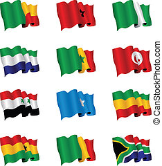 áfrica, banderas