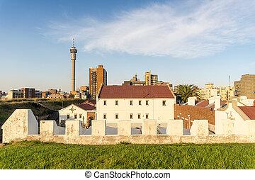 áfrica, colina, constitución, famoso, sur, johannesburg