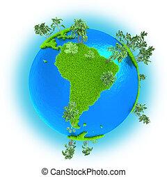 áfrica, en, tierra de planeta