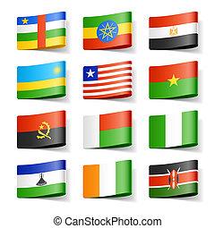 áfrica., flags., mundo