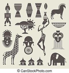 áfrica, iconos