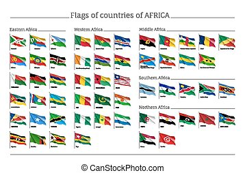 áfrica, jogo, bandeiras, grande