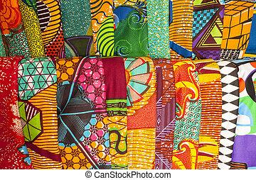 áfrica ocidental, gana, tecidos, africano
