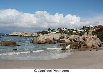 áfrica sul, cidade do cabo, praia