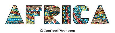 áfrica, título