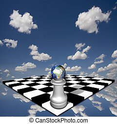 áfrica, tablero del ajedrez