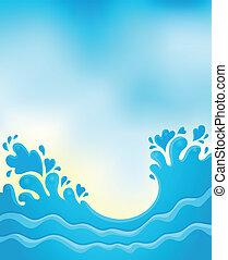 água, 8, tema, respingo, imagem