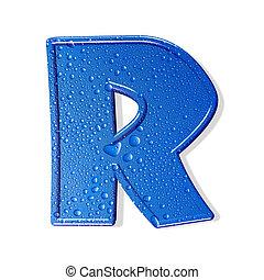 água, alfabeto, aqua, isolado, letra