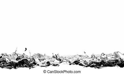 água, animação 3d