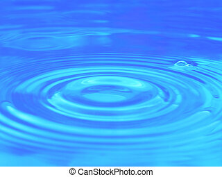 água azul