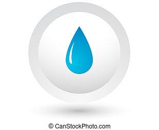 água azul, gota