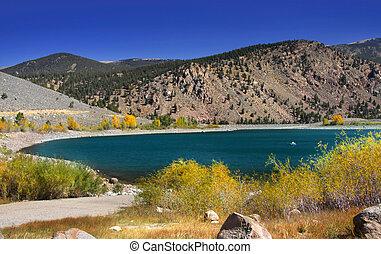 água azul, lago