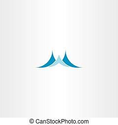 água azul, onda, logotipo, ícone