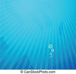 água azul, vetorial, profundo