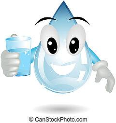 água, bebendo