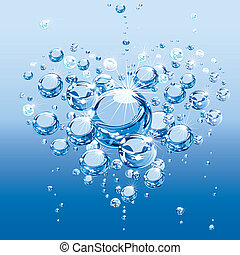 água, bolhas, amor