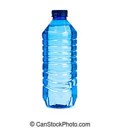 água, branca, garrafa, fundo