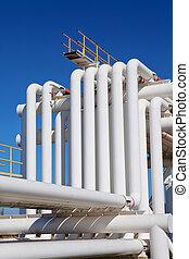 água, cano,  Industrial,  gás, óleo