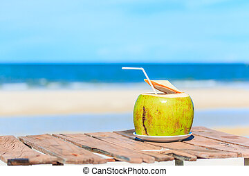 água coco, bebida