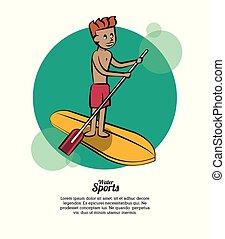 água, conceito, desporto