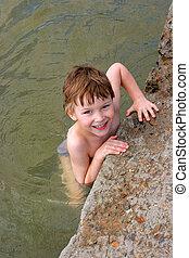 água, criança